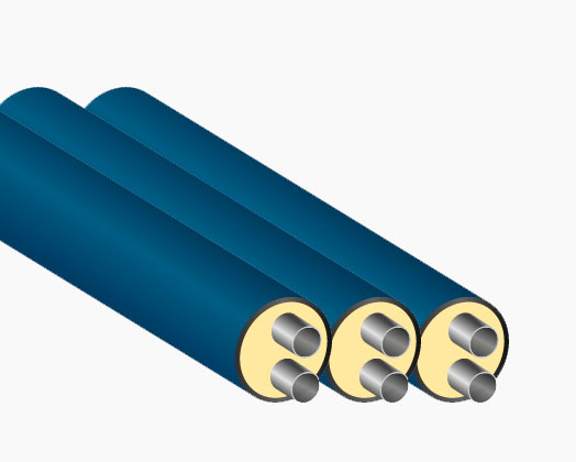 Двойные теплоизолированные трубы