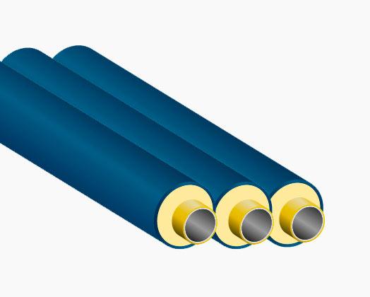 Предизолированные трубы – стальные изделия с теплоизоляционной защитой из пенополиуретана.